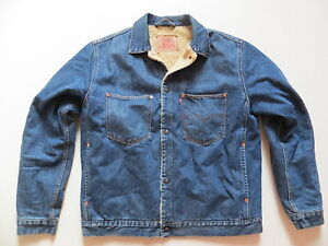 Levi s Biker Jacke Teddy Fell Jeansjacke Gr. XL, Vintage Denim, warm ... 15025c7eff