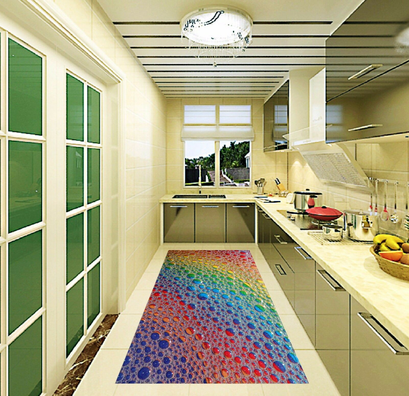 3D Glass Farbe 515 Kitchen Mat Floor Murals Wall Print Wall AJ WALLPAPER AU Kyra