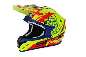 Scorpion-VX-15-Evo-Kitsune-Casque-de-Motocross-Offroad-Mx-avec-Systeme-de-Pompe