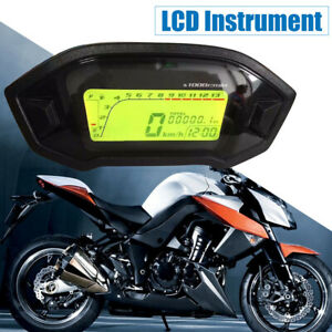 Motorcycle-Universal-LCD-Digital-Speedometer-Tachometer-Odometer-Speedo-Meter