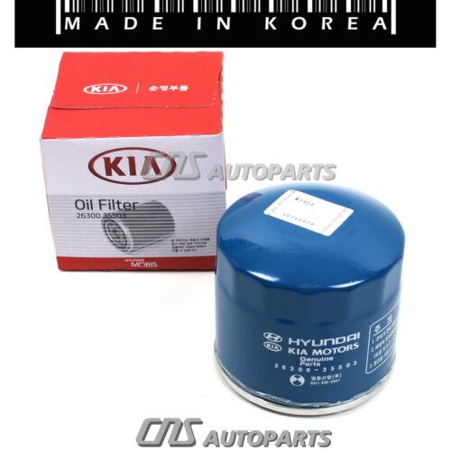 Oil Filters w// Washers 6PCs GENUINE For Hyundai Accent Elantra Sonata Kia Optima