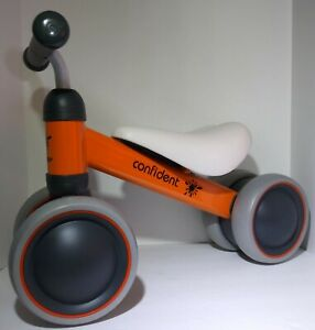 Luddy-Baby-Balance-Minibike-Sliding-Bike-Children-Walker-4-Wheels-Scooter-Orange