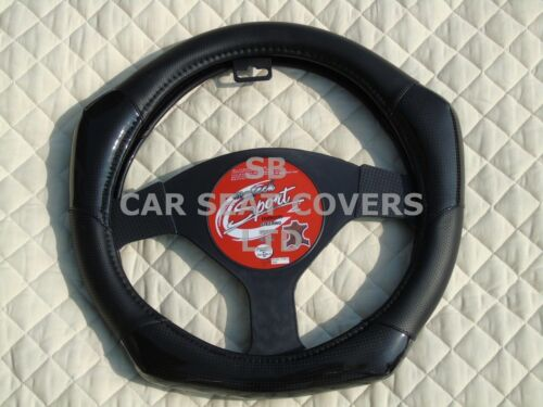 I Geeignet für ein Seat Leon,Lenkradabdeckung,Kohlenstofffaser Look R1 Schwarz