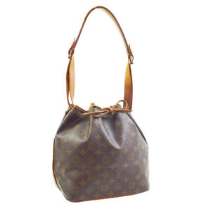 LOUIS-VUITTON-PETIT-NOE-SHOULDER-BAG-PURSE-MONOGRAM-CANVAS-MI881-M42226-30112