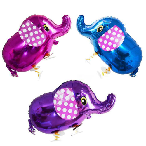 Hot Sale Helium Birthday Kids Party Toy Cut 4 Color Walking Elephant Balloons PB