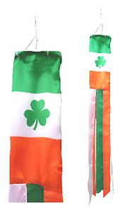 Ireland Shamrock Flag Super 5' Windsock