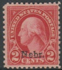 Scott# 671 - Series of 1929 - Nebraska Overprints - 2 cents Washington