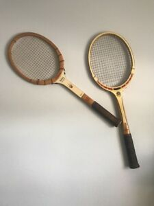 Details About 2 Vintage Wood Tennis Rackets Wilson And Davis