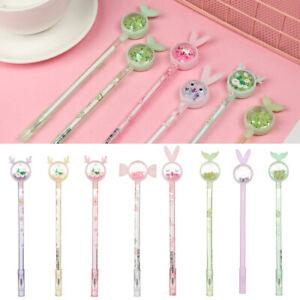 Cute-Rabbit-Ear-Kawaii-Fun-0-38mm-Gel-Black-ink-Roller-Ball-Point-Pen-Stationery