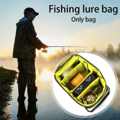 Portable Outdoor Angelrolle Aufbewahrungstasche Fall Bag Fly Tackle Gear K9R1