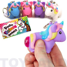 Magical Unicorn Poo Key Ring Squeezy Pooper Key Chain Toy Child Party Bag Filler