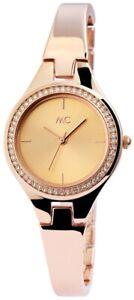 MC-Timetrend-Germany-Damenuhr-Rosegold-Strass-Analog-Metall-Armbanduhr-X51927