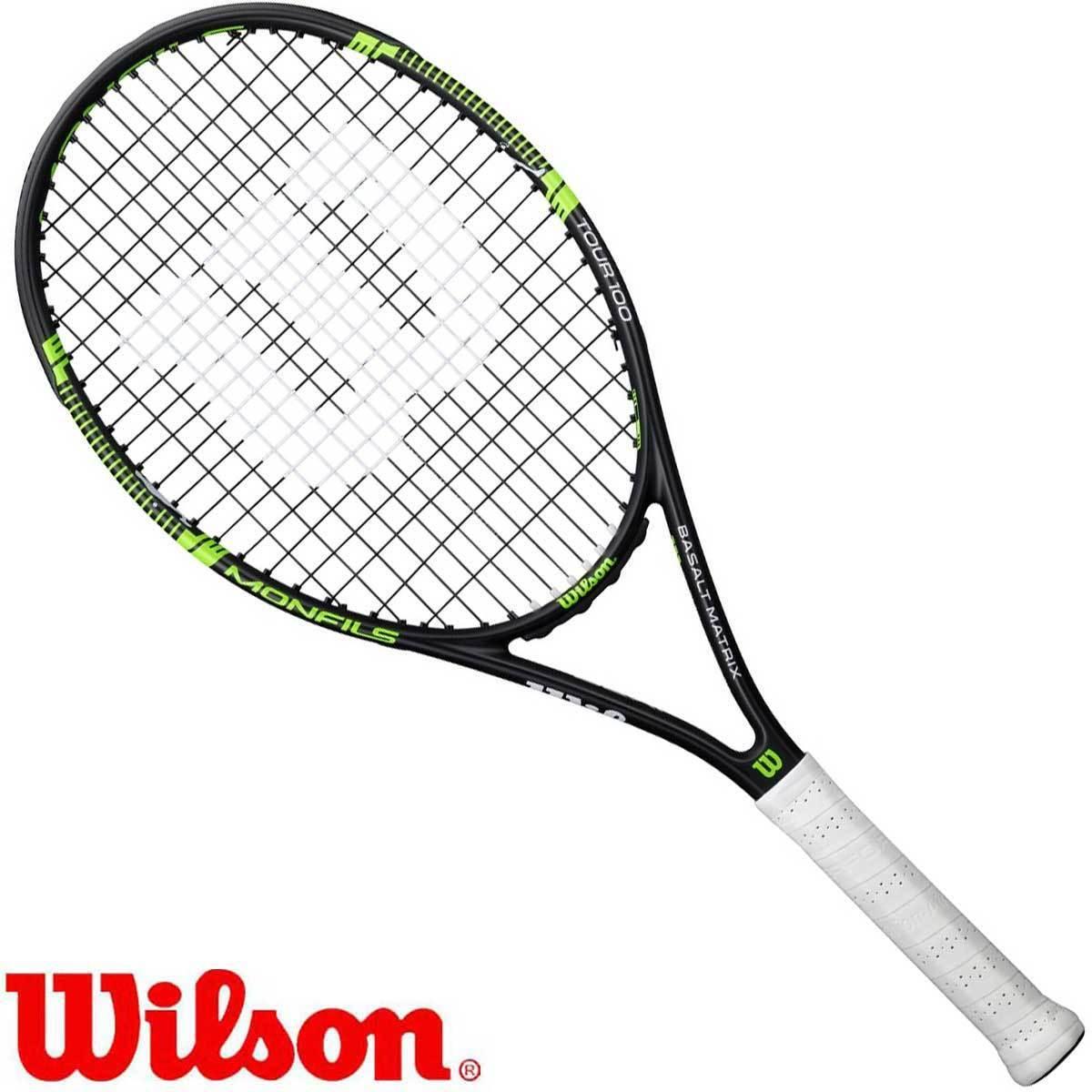 Wilson MONFILS TOUR 100 - Tennisschläger besaitet    - EX-  - Sonderpreis 5cb52f