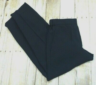 CREW TALL 1035 TROUSER SUPER 120S WOOL 27687 BLACK DRESS PANTS career NWT J