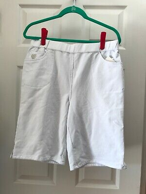 QUACKER FACTORY White DreamJeannes Shorts With Rhinestone Details XL