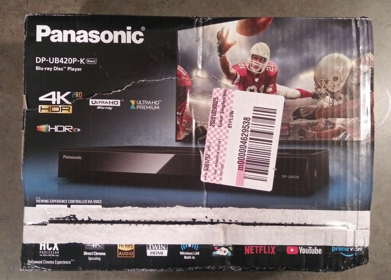 Panasonic Streaming 4K Ultra HD Blu-ray player DP-UB420P-K *FREE SHIPPING* panasonic player streaming ultra