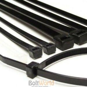 51cf2b06e3e5 100, 3.6 x 140mm STRONG BLACK COLOUR NYLON PLASTIC CABLE TIES ZIP ...