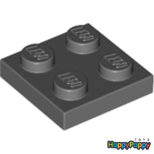 Lego 20x Platte 2x2 Dunkel Grau Dark Bluish Gray Plate 3022 94148 Neuware New
