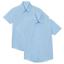 Camicie Bambina Scuola 2 Pack manica corta Camicie EX UK negozio uniforme 4-16Y NUOVO