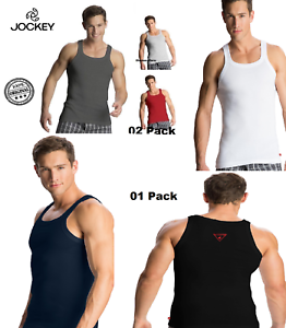 dcb219141f600b Image is loading Jockey-Men-039-s-Square-Neck-Vest-Cotton-