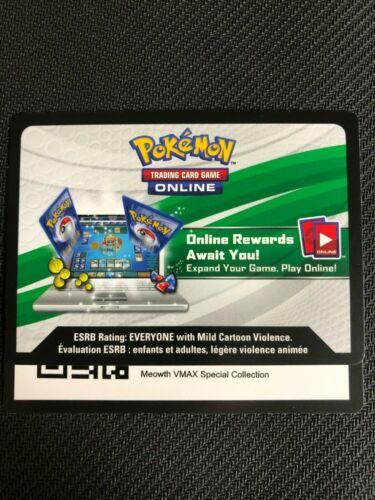 Pokemon Meowth VMAX//Meowth V SWSH004//SWSH005 Online Promo Code