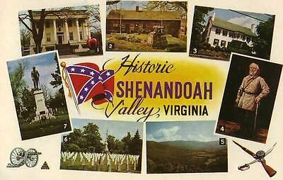 SHENANDOAH VALLEY VA Civil War Confederate Civil War Views c postcard