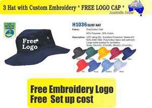 Image is loading 3-Custom-Embroidered-Bucket-Hats-FREE-LOGO-Embroidery- db41354d9af