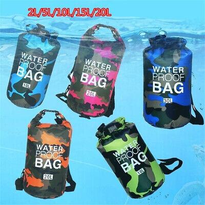 UK Outdoor Backpack Kayak Ocean Pack Waterproof Dry Bag Sack Multi Color 5-30L