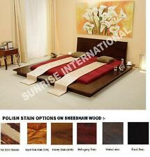 Contemporary Wooden Japanese Style Queen Size Platform Double Bed !!