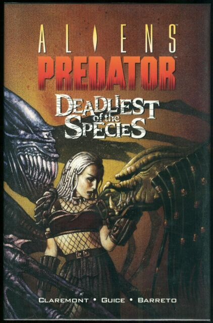Aliens Predator Deadliest of the Species Hardcover HC Rare John Bolton cover art