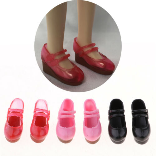 6pcs 1//6 Scale Doll Plastic Slope Heels Shoes for Blythe Clothes Accessories