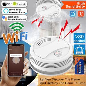 Smart WIFI Funk Rauchmelder Brandmelder Feuermelder Tuya APP-Alarm Sicherheit