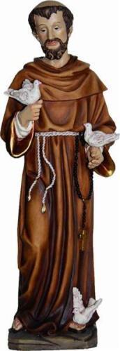 Sainte personnage saint patron saint françois avec des pigeons hauteur environ 14 cm