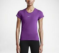 Nike Aero React Women's Running Shirt, Purple Style 719560 $90 In Store, Size M