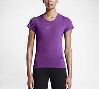 Nike Aero React Women's Running Shirt, Purple Style 719560 $90 In Store, Size M