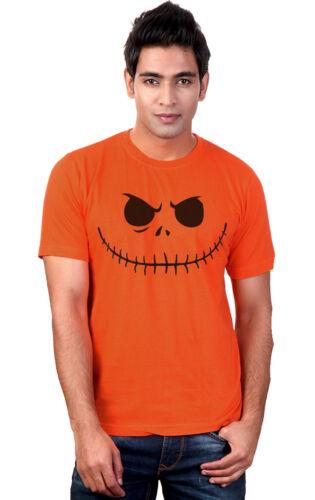 Homme citrouille-jack visage halloween t-shirt neuf s-xxl
