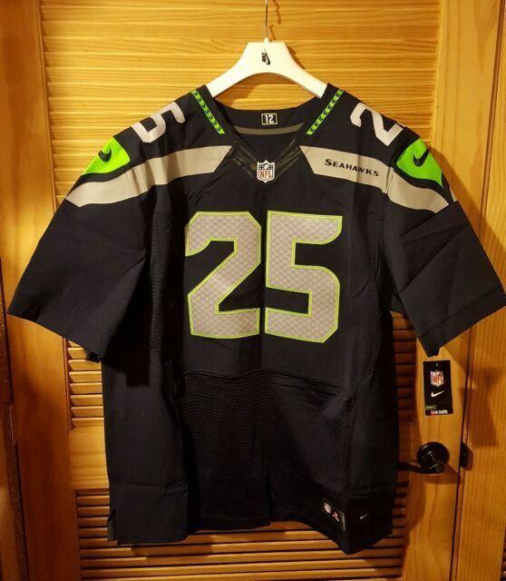 Nike Richard Sherman Seattle Seahawks Elite Jersey 12th Man Men's Size 52