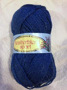 Brunswick-Heatherblend-Sport-3512-Enamel-Blue-Heather-Yarn-Loom-Knit-Crochet