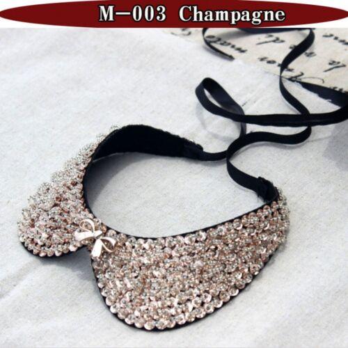 Femme Cristal collier tour de cou Col victoriennes Vintage Design Mariage Diamant