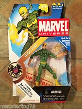 Marvel Universe IRON FIST figure Series 1 #017 Variant Black Logo Avengers 2009
