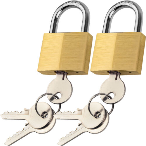 Brass Padlock Set of 2 Keyed Alike