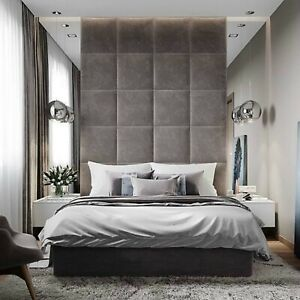 50-cm-x-50-cm-Square-Fabric-Upholstered-Wall-Panels-Headboard-Any-Fabric-Colour
