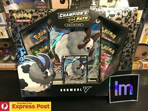 POKEMON-TCG-CHAMPIONS-PATH-DUBWOOL-V-COLLECTION-BOX-CARDS-EXP-POST-IN-STOCK