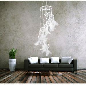 Traumfaenger-Federn-Wandbehang-Dekoration-Dreamcatcher-Ornament-Geschenk-Weiss-HOT