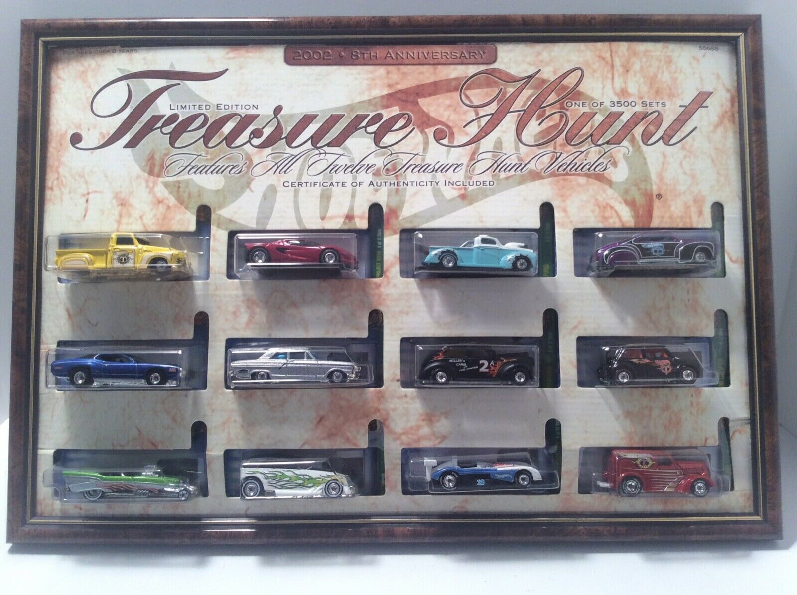 Hot Wheel Treasure Hunt 2002 8th Anniversary Limited Edition Set  1 of 3,500