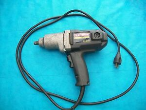 craftsman 1 2 drive electric impact wrench ebay. Black Bedroom Furniture Sets. Home Design Ideas