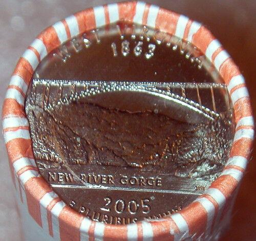 2005 P W VIRGINIA State Quarter Roll ORIGINAL BANK WRAP