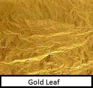 10-sheets-of-24ct-gold-leaf-7cm-x-7cm-craft-silver-amp-copper-leaf-also-in-shop