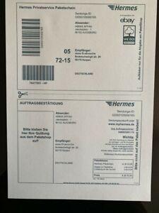 Details Zu 100 St Dhlhermesdpd Versandetiketten Online Frankierung Paketschein Aufkleber