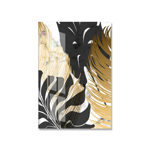 Nordic Golden Leaf Canvas Painting Poster Wall Art Picture Modern Room Decor